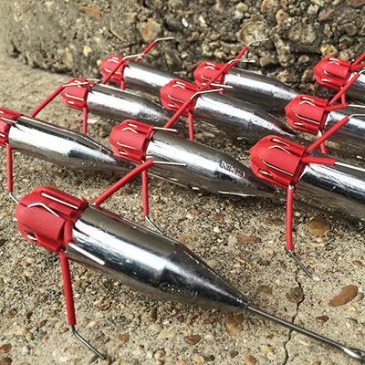 6 oz | Gemini Breakout Sinkers | 10 pcs | Surf Sputnik Sinker Spider Weights